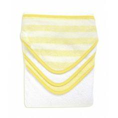 Toallas con capucha amarilla