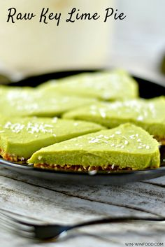 Raw Key Lime Pie | Creamy avocado with the perfect balance of sweet and sour. No food coloring. Gluten free, grain free, Vegan