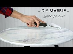 DIY 'Marble' Finish - Side Table Makeover