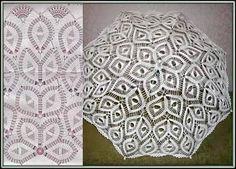 Crochet white umbrella ♥LCU-MRS️♥ with diagram, busy pattern. Crochet Motifs, Crochet Chart, Crochet Doilies, Free Crochet, Knit Crochet, Doily Patterns, Sewing Patterns, Crochet Patterns, Lace Parasol