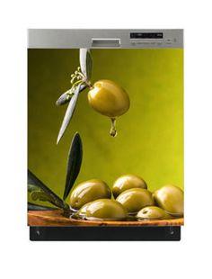 Naklejka na zmywarkę - Zielone oliwki 6515