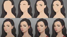 Портрет: пошаговый процесс