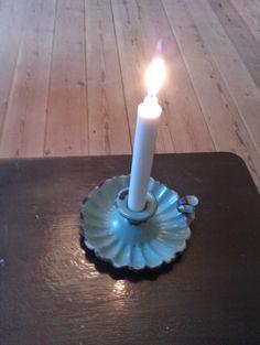 Rare Madam Blue Candle Holder.
