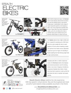 STEALTH ELECTRIC BIKES !!!! THE MOST ADVANCED e-BIKE IN THE WORLD !!!