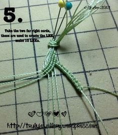 All at Sea Micro Macrame Bracelet tutorial picture 5