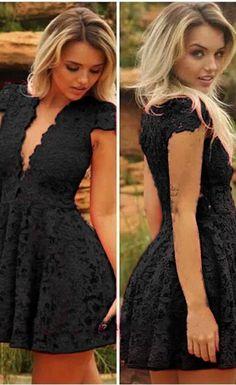 $29.99 Women Lace V-neck Dress