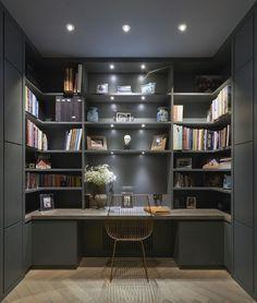 moody study design - hyde park apartment | de rosee sa
