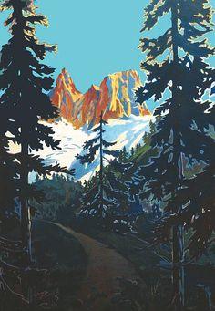 Le Dolomiti | Antonio Vallardi -  Milano 1930.  Affiche entoilée/ Poster on Linnen    B.E.  B + 50 x 34 cm #Dolomiti #Dolomites #Dolomiten #Dolomitas #Asta #Auction #Poster #Vintage