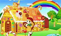 Facilitate Hansel and Gretel enhance the gingerbread house with sweets and candy!