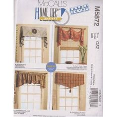 McCall's Patterns M5872 Window Treatments, All Sizes  by McCall's Patterns