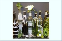 Decorated Wine Bottles Beautiful Elegant Designs by DazzlingGRACE, $15.00