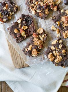 Dark chocolate bark with toasted quinoa and nuts