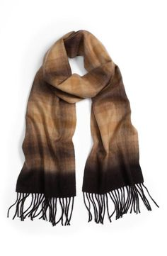 The perfect cashmere scarf will always complete a fall outfit.