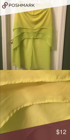 "🎭 FUN, FUN NEON SKIRT! I wore this SUPER FUN, neon skirt on a cruise to the ""Glow Party"" 🎉 SUPER CUTE party skirt! Would look Great to a party or Mardi Gras Party! It is knee length in the front & long in the back- super light and FUN!‼️ Apple Bottoms Skirts Asymmetrical"