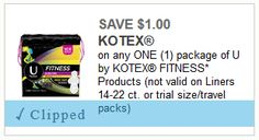 U by Kotex Fitness 40 Count Liners for $.47 at Walmart! (New $1.50/1 Ibotta Rebate to Stack)