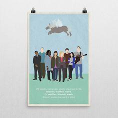 Affiche de lamitié inspirée de parcs et loisirs par HommeSurLaLune