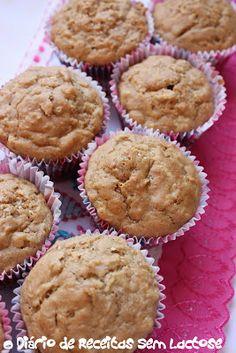 O Diário de Receitas Sem Lactose: Muffins de Maçã Sem Lactose e Sem Ovos