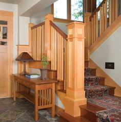 Yukon Harbor Vacation Home Plan 011S-0066 | House Plans and More  Looks like top rail is dark to match stair treads