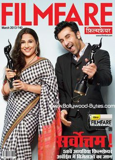 #VidyaBalan #RanbirKapoor Cover Filmfare Hindi March 2013