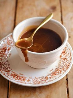 Easy Caramel (Butterscotch) Sauce | Leite's Culinaria (also try with maple syrup instead of honey, per comment)