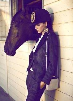 www.lacavalieremasquee.com / Tibi Clenci for Moschino F/W13 in Elle Romania October 2013