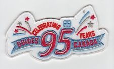 Girl Guides Canada CELERBRATING 95 YEARS Crest Patch Badge Girl Scouts New