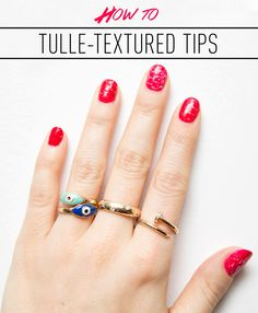 The Genius Mani Trick You Never Knew You Could Do With - Your Old Prom Dress Finally, another use for that poufy thing in your closet.