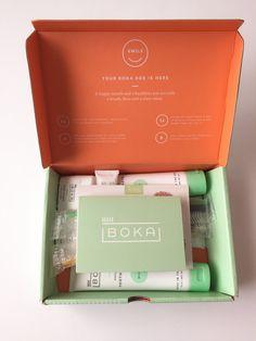 Every 3 month dental hygiene box: the Boka Box. Brand Packaging, Box Packaging, Packaging Design, Branding Design, Dental Hygiene, Dental Care, Envelopes, Baby Car Mirror, Baby Box