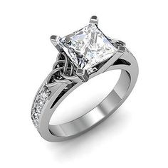 Vintage Engagement Rings are customized by the engaged couple at Diamond Mansion Co. Design your own engagement ring. Disney Engagement Rings, Disney Wedding Rings, Celtic Wedding Rings, Princess Cut Engagement Rings, Engagement Ring Cuts, Vintage Engagement Rings, Princess Wedding, Solitaire Engagement, Wedding Band
