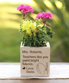 Another great find on #zulily! 'Paint Bright Futures' Personalized Planter #zulilyfinds