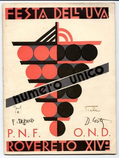 Cover by Fortunato Depero Wine Advertising, Vintage Advertising Posters, Vintage Advertisements, Vintage Ads, Vintage Posters, Sweet Wrappers, Futurism Art, Wine Poster, Italian Posters