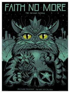 Cool illustration for this Faith No More gig poster by Jeff Soto. Album Art, Concert Poster Design, Gig Posters, Art Music, Rock Poster Art, Art, Music Artwork, Prints, Rock Art