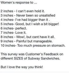 Woman's Response to.. #Funny, #Sandwich, #Sandwiches, #Woman