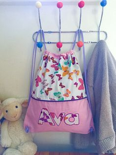 Hey, I found this really awesome Etsy listing at https://www.etsy.com/uk/listing/270448594/girls-personalised-bag-pink-bag