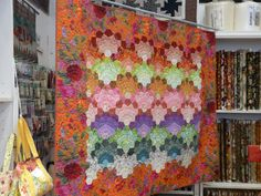 Can you find the larger hexagons surrounded by pentagons?  Lovely and very interesting! Made by Francoise Rey from France