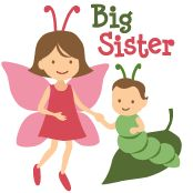 Big Sister - Butterfly family announcement  t-shirts and gifts