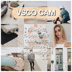 "— #dopefilterssvscocam free filter ❕ great for a fall feed. works best on white, tan, and cream colours - ""the aesthetic series"" is free in the vsco store. filters A4-A6 - 60+ likes for @jennxpenn's filter"