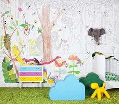 Coloring book meets wallpaper