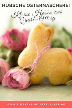 Einfach, schnell und lecker: tolles Rezept für Quark-Ölteig Hasen zu Ostern - passen auf den Frühstückstisch, zum Oster-Brunch oder zum Osterkaffee - ganz easy gemacht!
