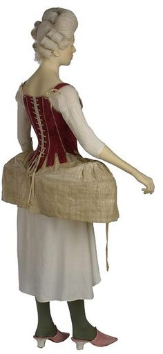 18th century undergarments - how uncomfortable these must've been in the summer heat without air conditioning!
