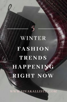HAVE NO FEAR, WINTER FASHION SEASON IS HERE!Well actually… it's been here for a WHILE but in this post I explain exactly what trends are happening as of right now! I love fashion and following along the latest and great in fashion news so I'm really exci