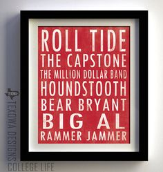 University of Alabama Crimson Tide Subway Scroll