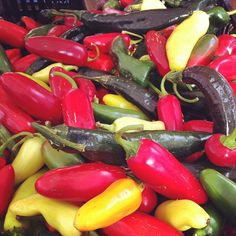 Colorful peppers at the Farmers Market Photo by isalara • Instagram