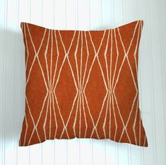 Burnt Orange   Pillow Cover.Decorator Pillow Cover.Home Decor. Rust Premier Diamonds Cushions. Cushion.Pillow.