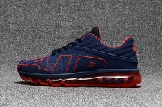 promo code 975f2 8e139 Nike Air Max 2017.9 Flair Large Air Design Navy Red Men Shoes Running Shoes  For Men