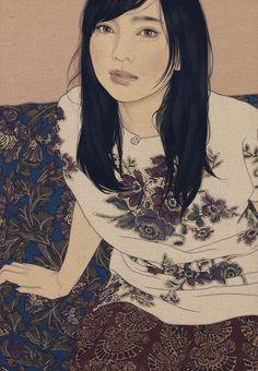 Ikenaga Yasunari - Japanese Illustration - Nihonga Style - Honami