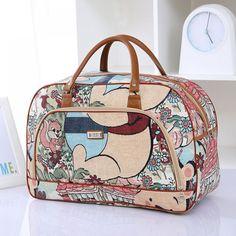 Women Travel Bags Pu Leather Large Capacity Waterproof Print Luggage Duffle Bag Casual Travel Bags Overnight Bag Source by hwongwendy bag casual handbags Weekender, Duffle Bag Travel, Travel Tote, Duffel Bag, Tote Bag, Leather Fashion, Pu Leather, Minimalist Bag, Minimalist Living