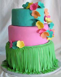 Luau Themed Cake