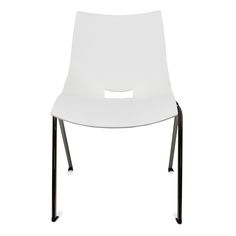 Color: White Shell chairs by Italian designer Angelo Pinaffo are lightweight, stackable, and durable with a unique and elegant design. Eight designer colors from beige to bold orange make these the perfect chairs for any decor. The Shell chairs fit as well in the dining room as they do in a home office. The shells are designed for superior strength in the seams where other chairs tend to break down. The legs are made of premium steel with a chrome finish for superior quality.
