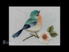 how to embroider a goldfinch in long & short stitch - YouTube